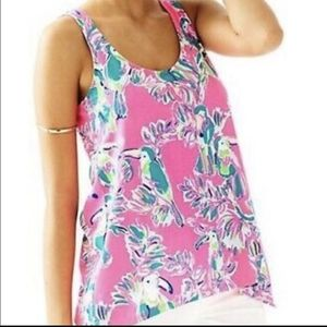 Lilly Pulitzer Monterey Small Tucan Neon Tank